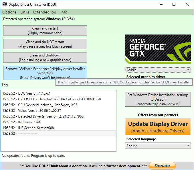 Nvidia GeForce Experience lässt sich separat deinstallieren