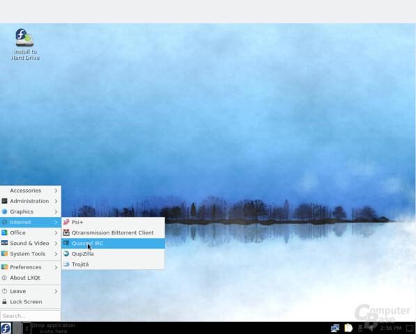 LXQt-Version von Fedora 26