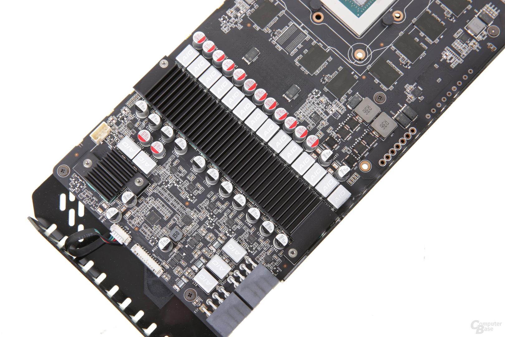 16+2 Phasen mit passiver Kühlung versorgen GPU und Speicher