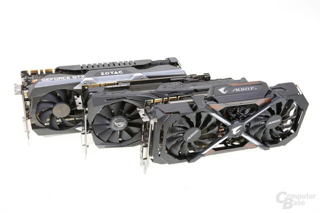 v.o.n.u.: Zotac AMP! Extreme, Asus Strix OC-Edition, Gigabyte Aorus
