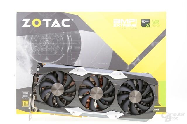 Die Zotac GeForce GTX 1080 Ti AMP! Extreme im Test