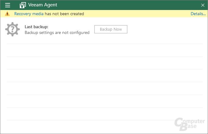 Veeam Agent – Control Panel