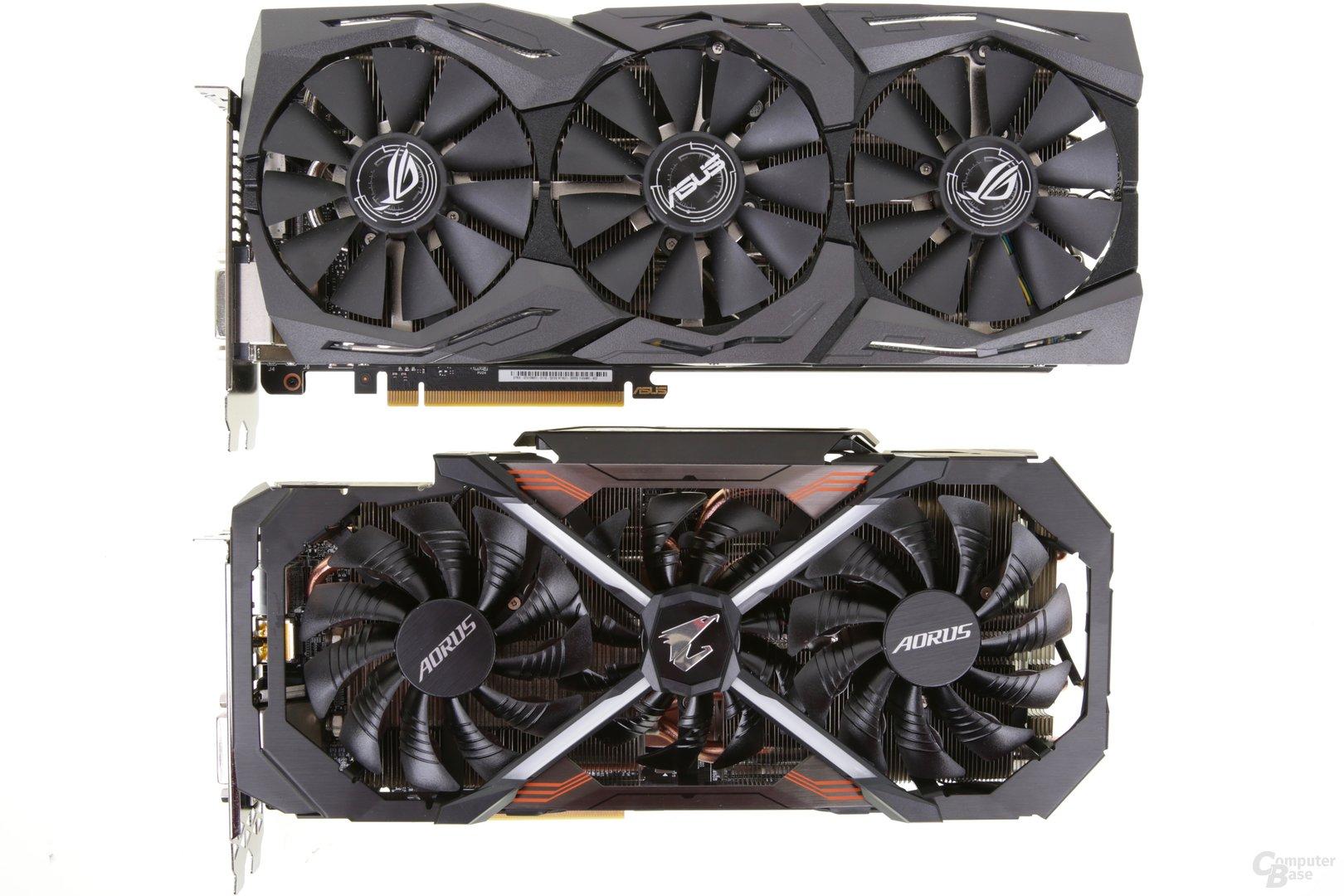 Asus GeForce GTX 1080 Ti Strix OC Edition vs. Gigabyte Aorus GeForce GTX 1080 TI