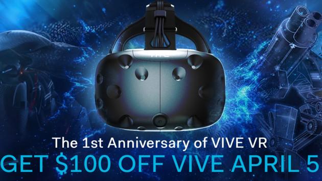 HTC Vive: 100 Euro Rabatt auf die Hardware zum 1. Geburtstag