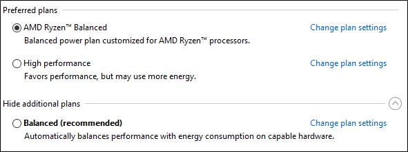 Das neue Energiesparprofil für Ryzen unter Windows 10