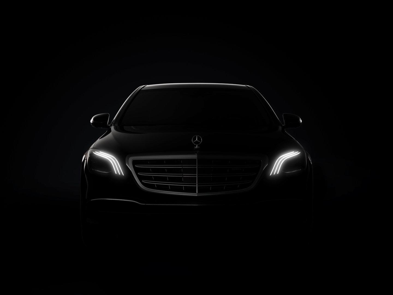 Teaser für das Scheinwerfer-Design der neuen S-Klasse