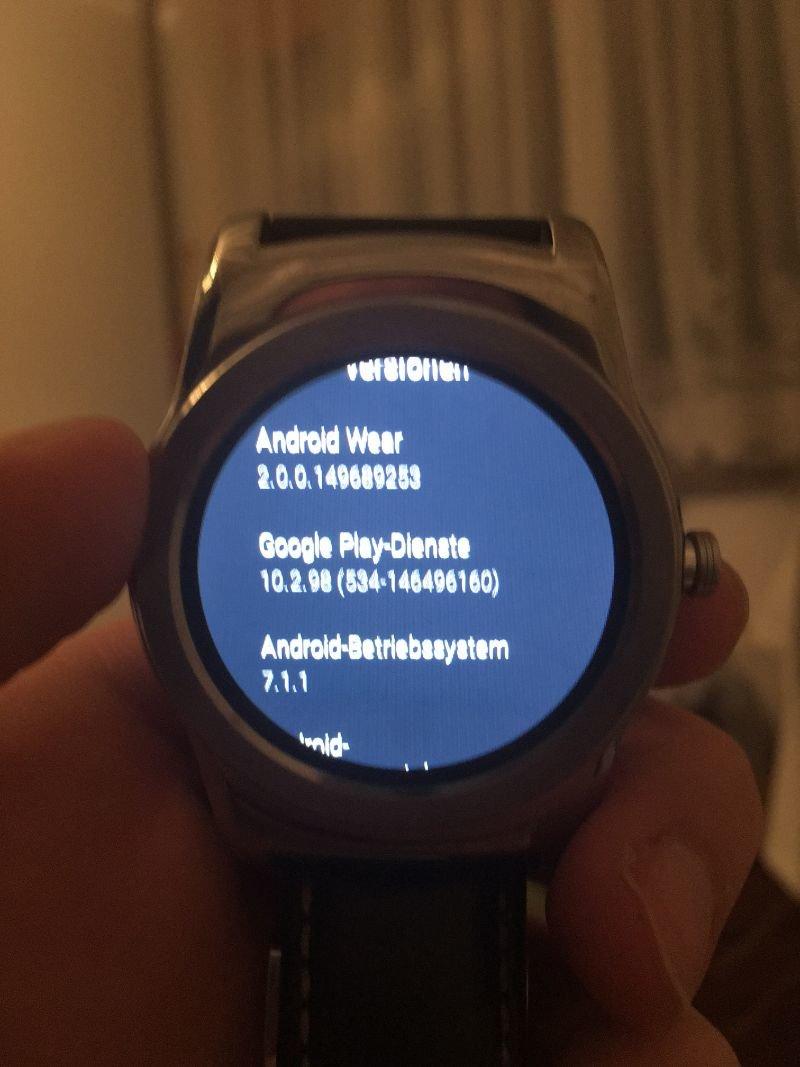 Android Wear 2.0 auf der LG Watch Urbane
