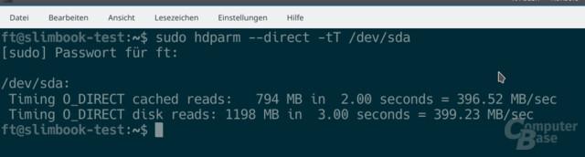 SSD mit durchschnittlichem Tempo