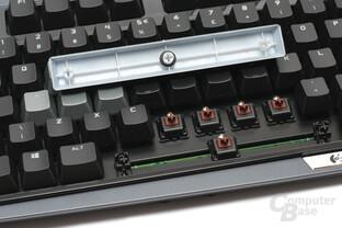 Logitech stattet die G710+ werksseitig mit Dämpfungsringen aus