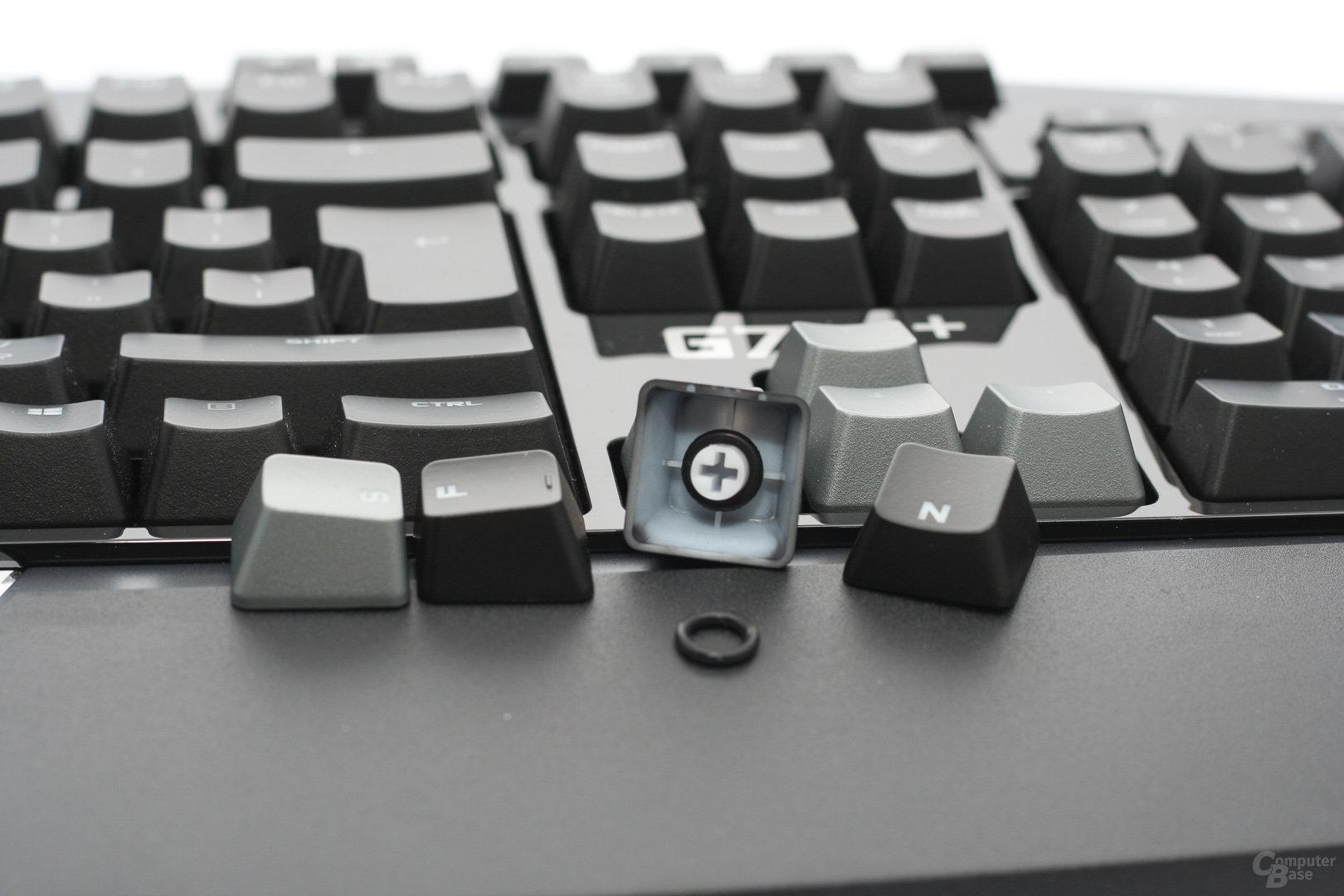 """Nachrüsten lassen sich die """"Schalldämpfer"""" aber bei jeder Tastatur mit Kreuzaufnahmen"""