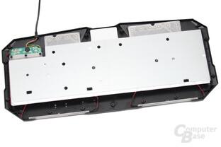 Rubberdome-Tastaturen werden mit einem Kunststoff-Lichtleiter angestrahlt