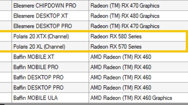 AMD Radeon RX 500: Treiber bestätigt drei Modelle, RX 560 fehlt zum Start