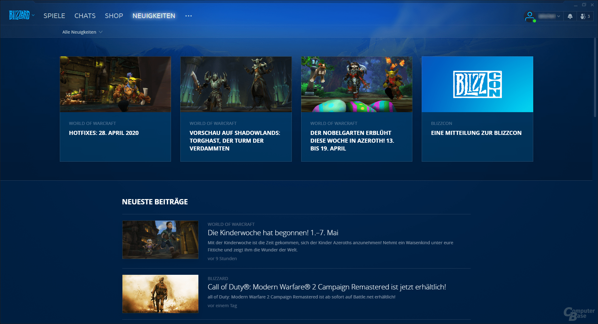 Battle.net – Neuigkeiten