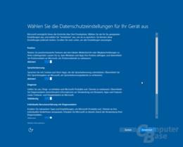 Windows 10 Creators Update: Datenschutz-Setup