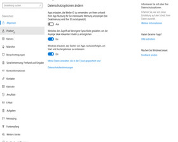 Windows 10 Creators Update: Neue Datenschutz-Optionen