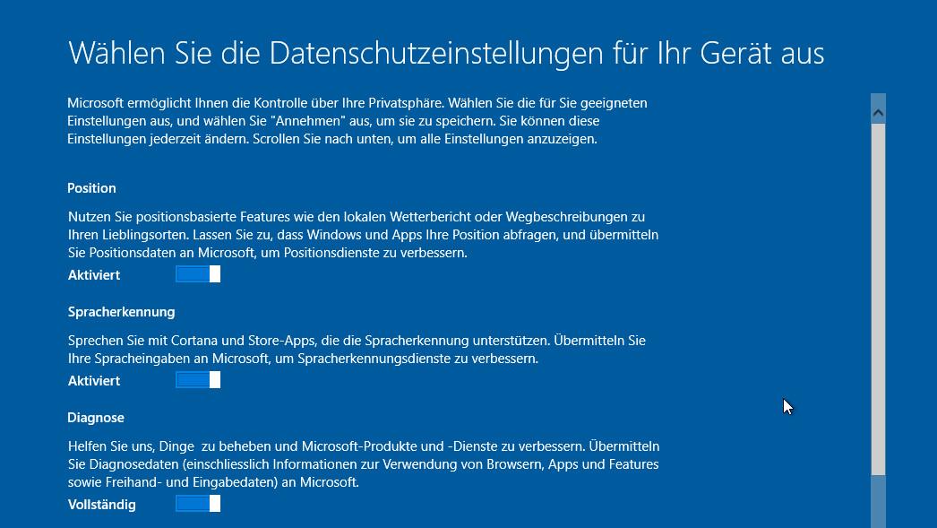 Windows 10: Die neuen Datenschutz-Optionen im Creators Update