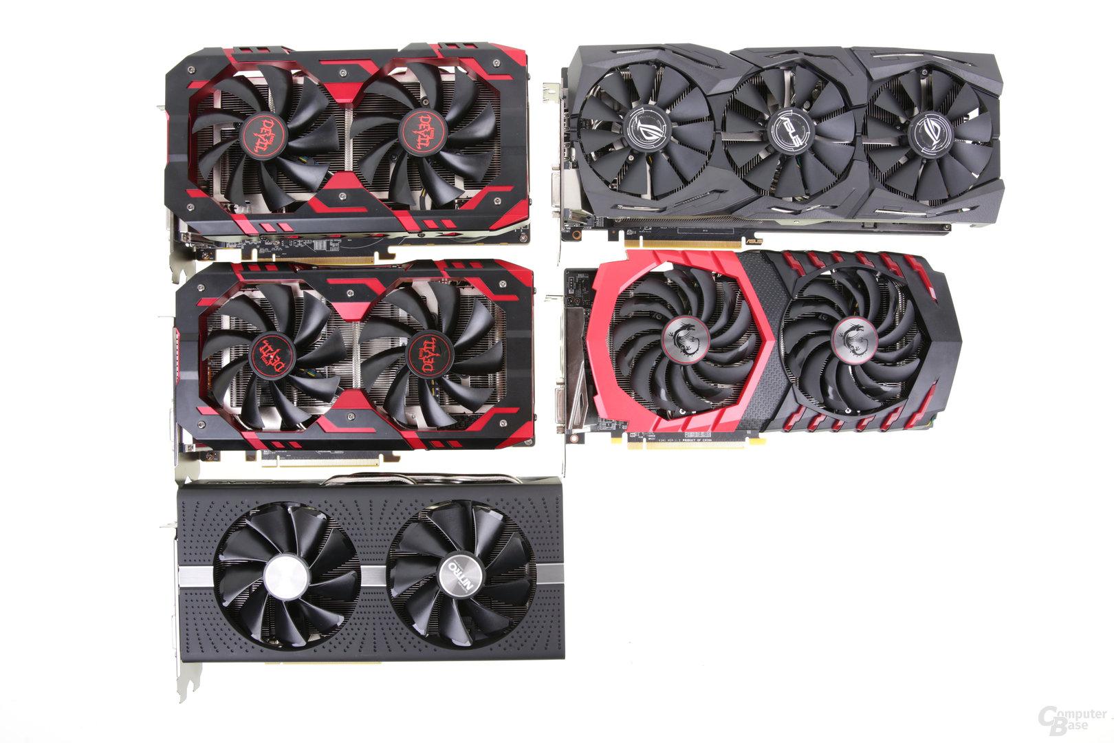 Fünf Radeon RX 580 von Asus, MSI, PowerColor und Sapphire im Test