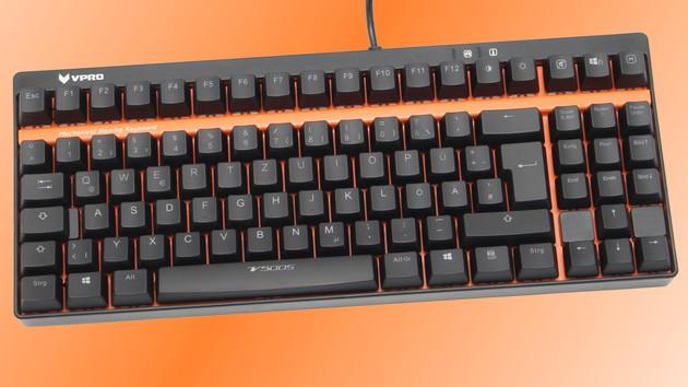 Vpro V500S im Test: Beleuchtete Tenkeyless-Tastatur für Sparfüchse