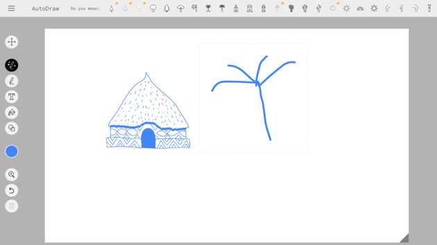 Google AutoDraw: Intelligentes Web-Tool optimiert krakelige Skizzen