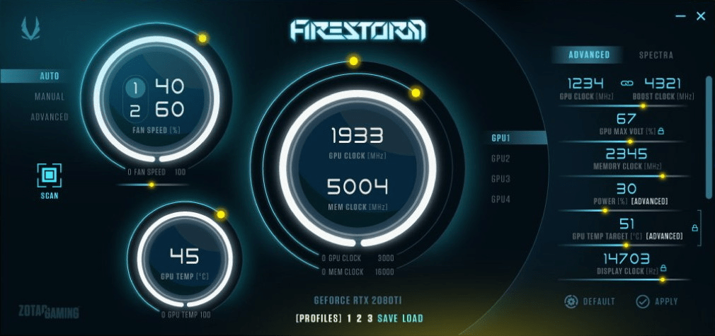 Zotac FireStorm – Übersicht