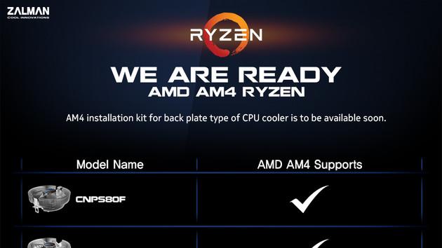 CPU-Kühler: Zalman stellt Upgrade-Kits für Sockel AM4 in Aussicht