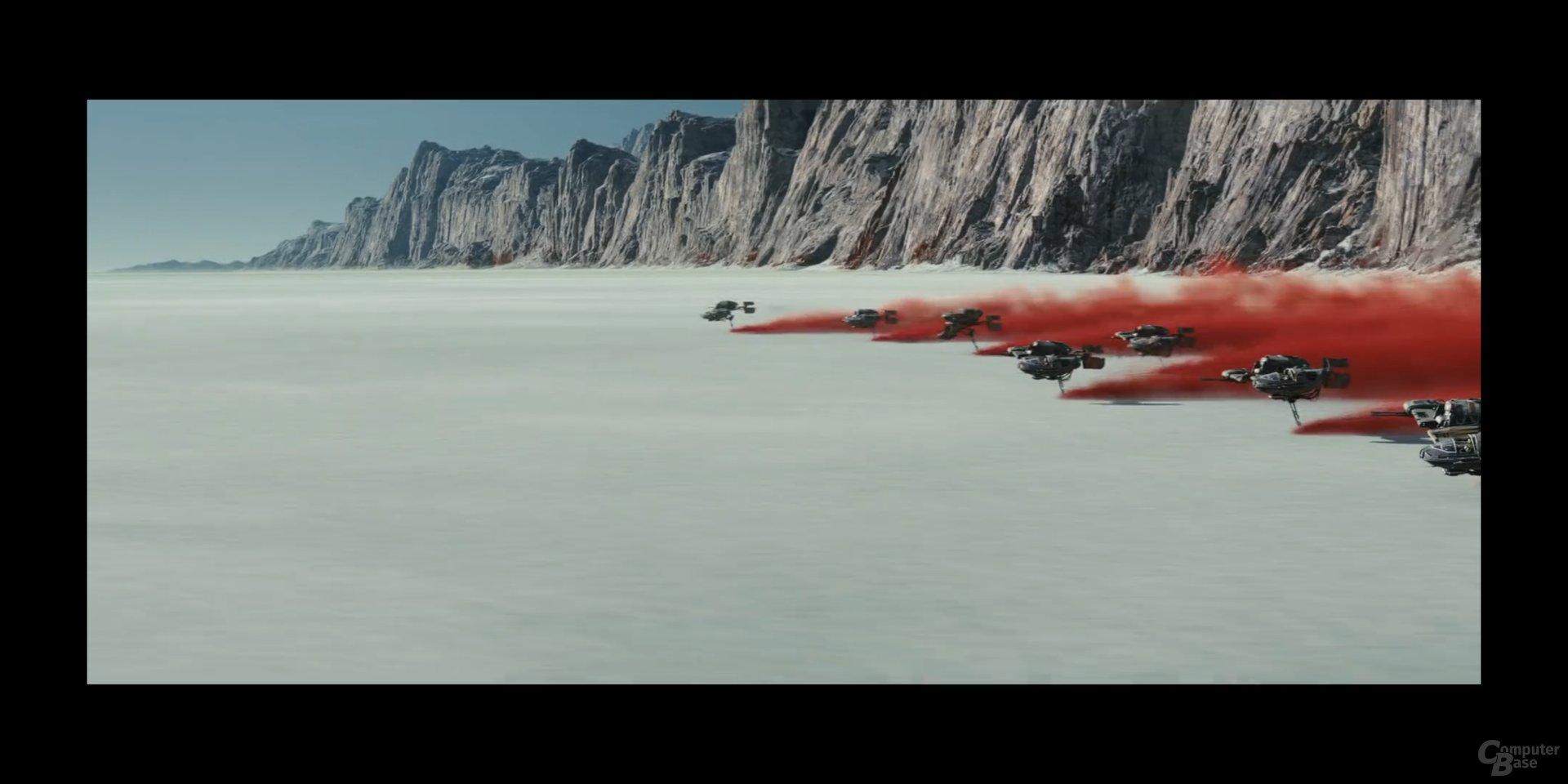 Cinemascope-Videos behalten schwarze Balken links und rechts
