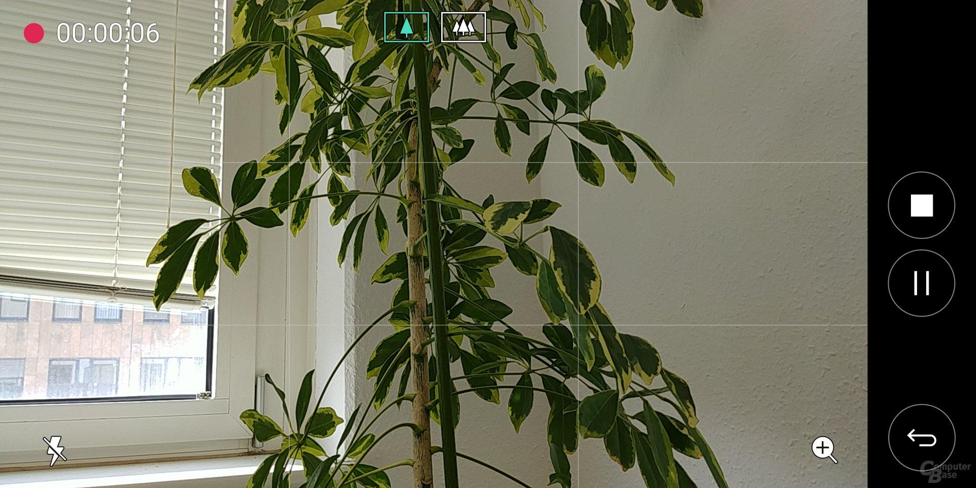 Kamera-App des LG G6 im Videomodus