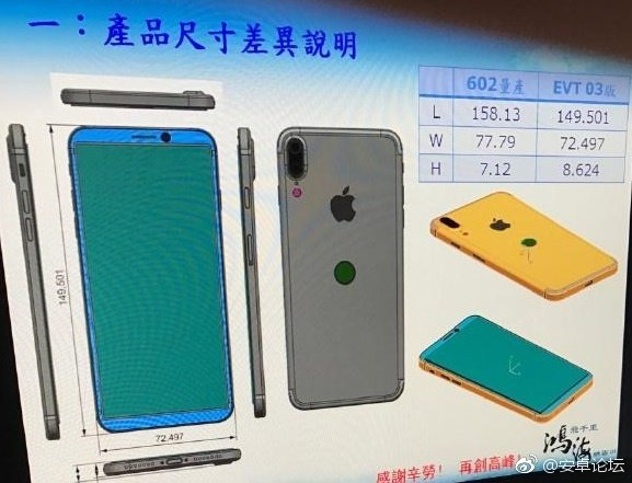 """Technische Zeichnung des Gehäuses des """"iPhone Edition"""""""