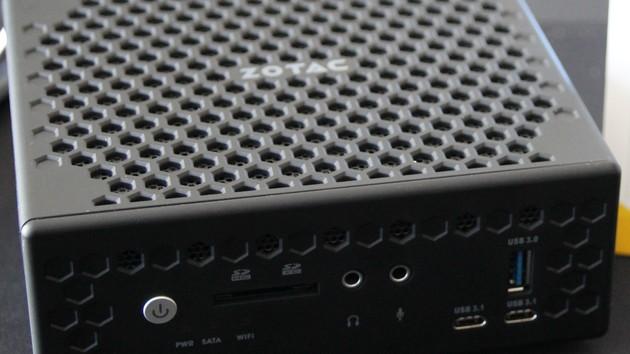 Zotac Zbox CI327 nano: Lüfterloser Mini-PC mit Apollo-Lake-SoC und HDMI 2.0