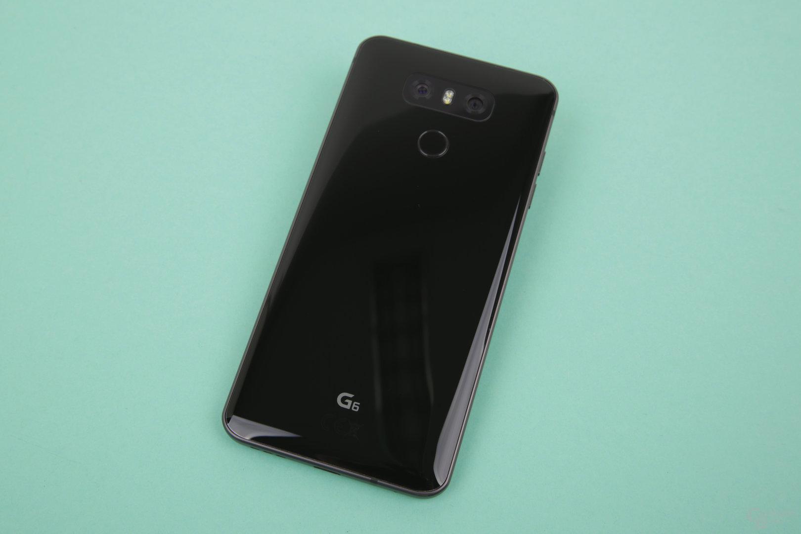 Gorilla Glass 5 schützt die Rückseite des G6