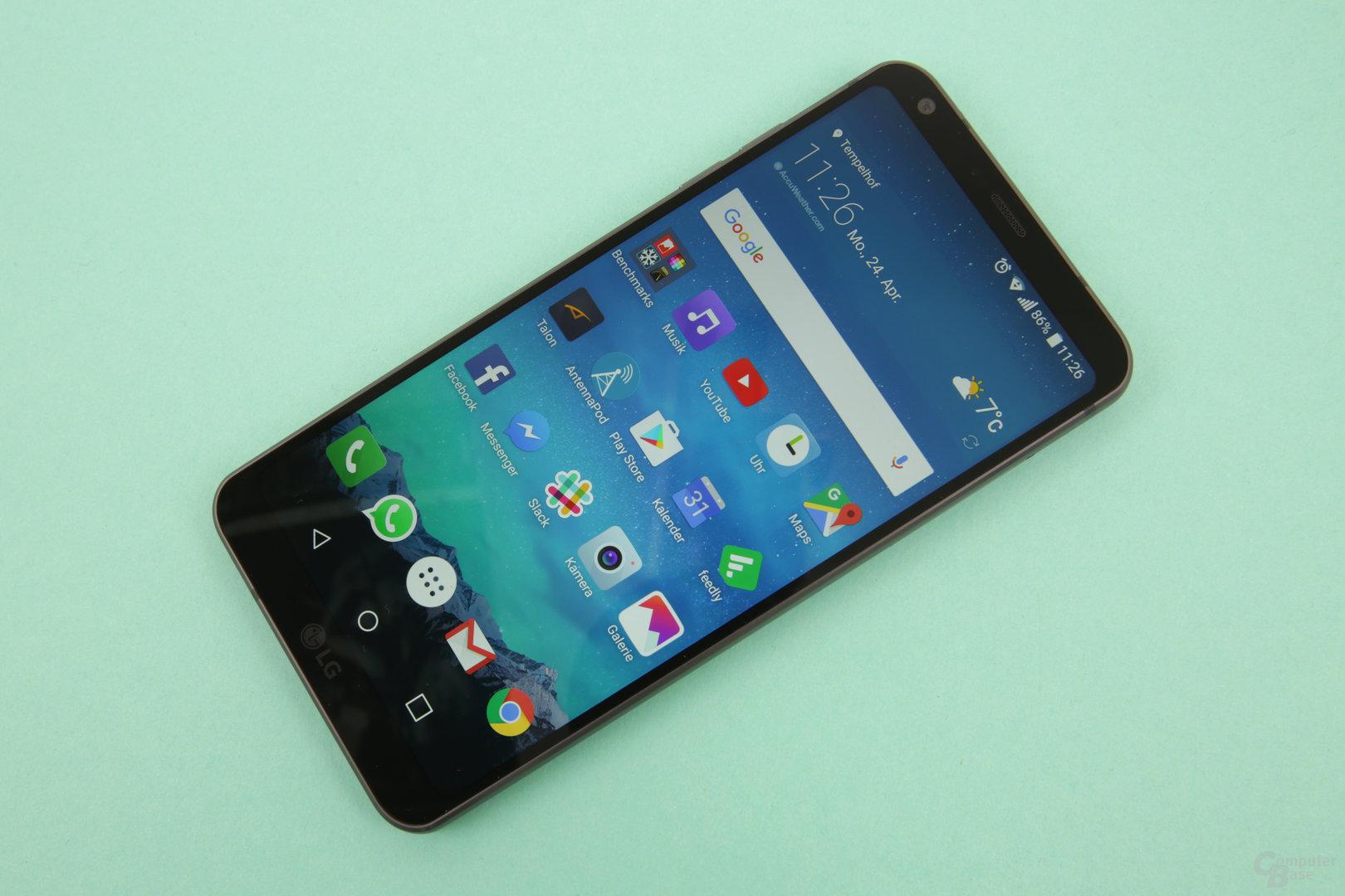 Das HDR-Display von LG leuchtet Hell und bietet einen hohen Kontrast