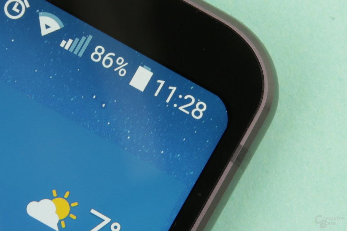 Die Rundungen des Displays fertigt LG nicht so sauber wie Samsung