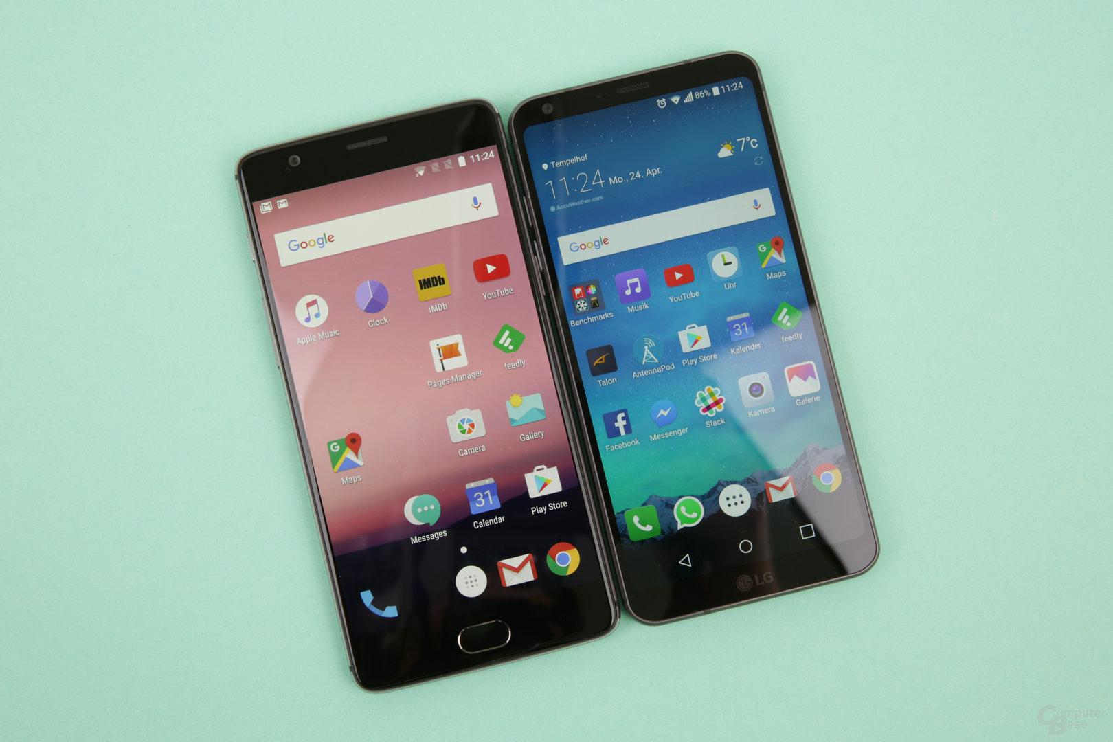 LG G6 gegen OnePlus 3T: Größeres Display im kleineren Gehäuse