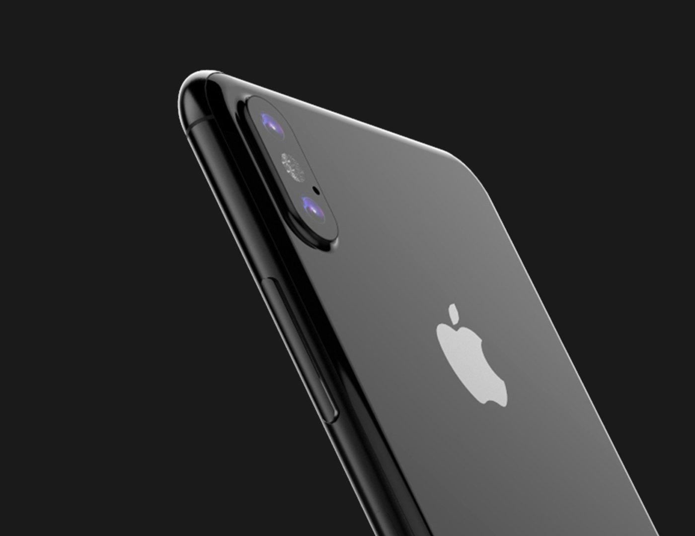 Renderbild des iPhone 8 anhand der Dummy-Aufnahmen