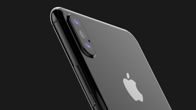 iPhone 8: Apple-Dummy mit Rückseite aus Glas und Edelstahlrahmen