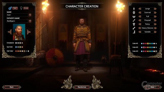 Die Charaktererstellung