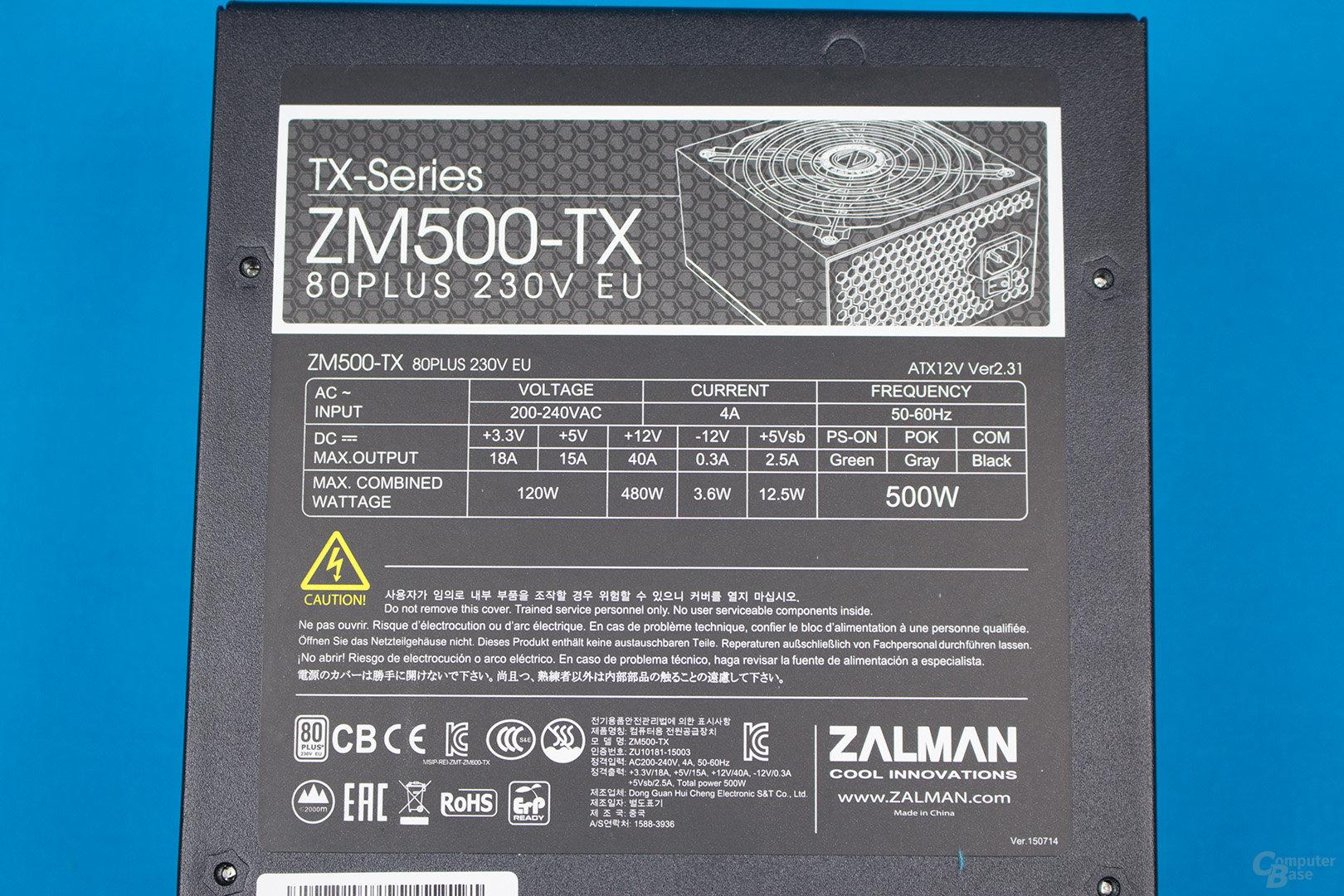 Zalman ZM500-TX – Lastverteilung