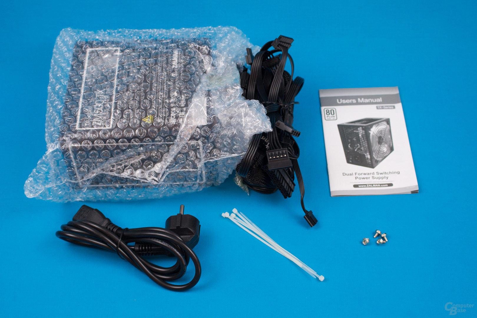 Zalman ZM500-TX – Packungsinhalt