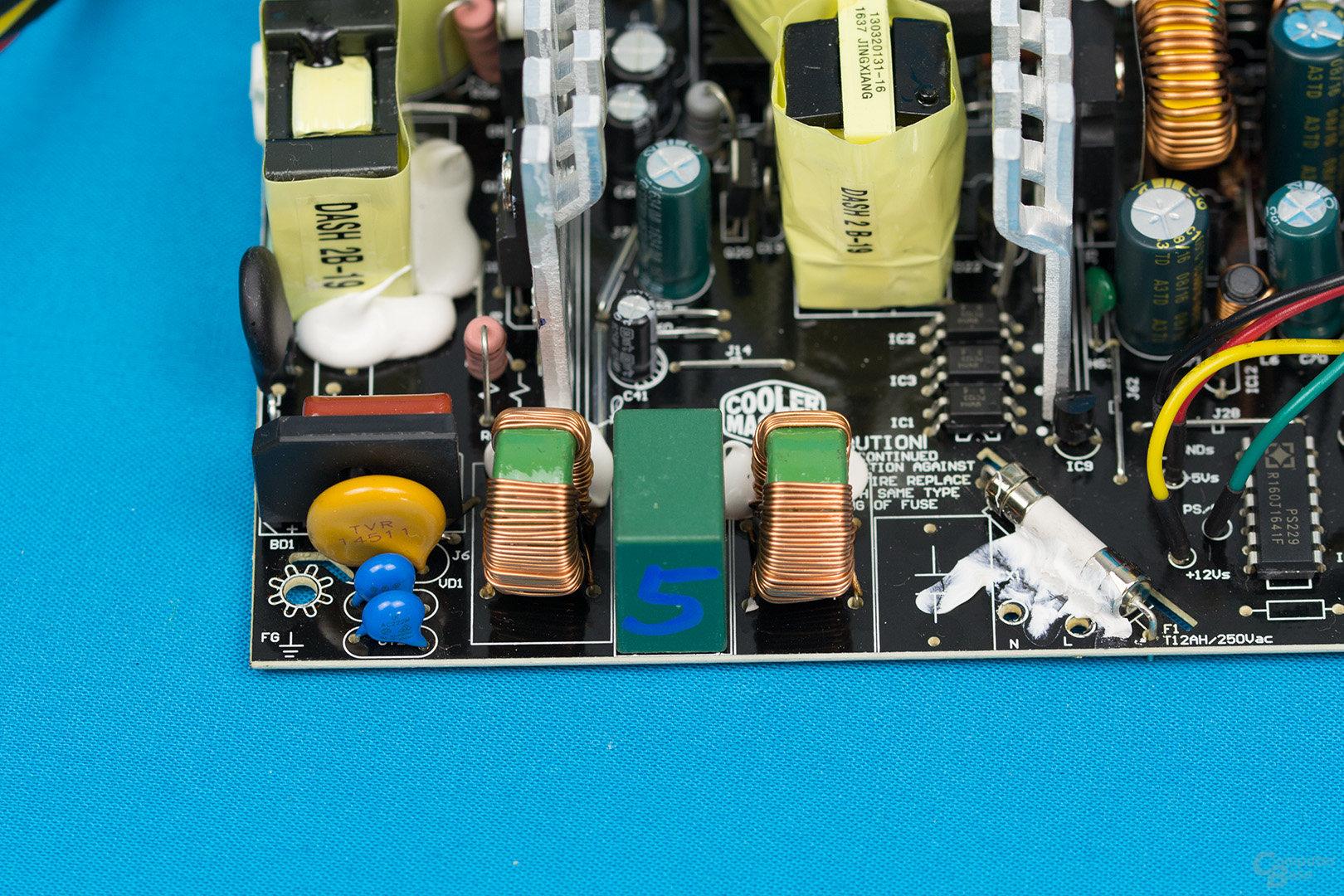 Cooler Master MasterWatt Lite 500W – Eingangsfilter
