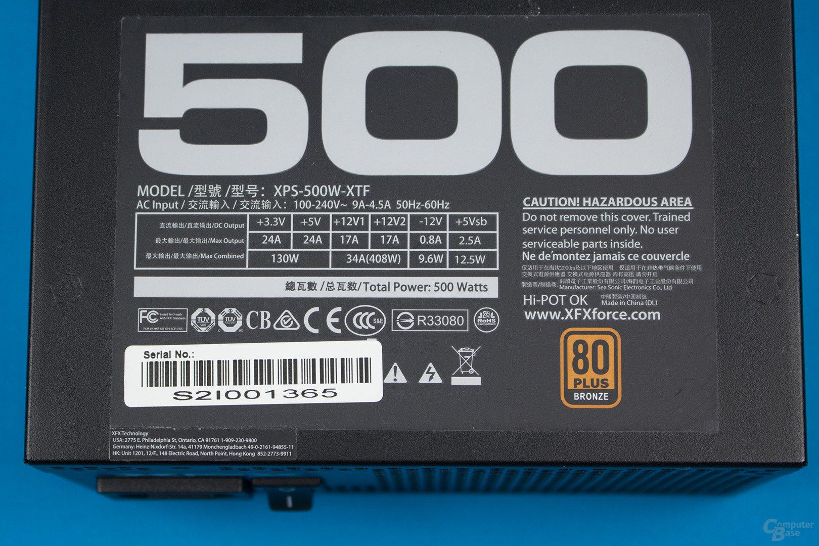 XFX XT500 (zweite Revision) – Lastverteilung