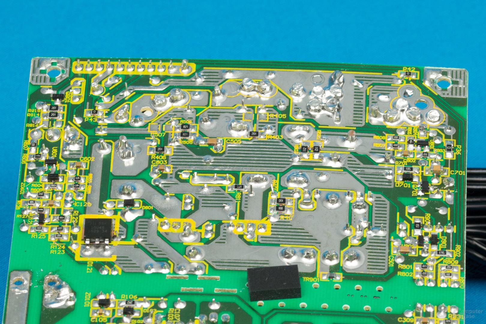 XFX XT500 (zweite Revision) – Lötqualität (Sekundärseite)