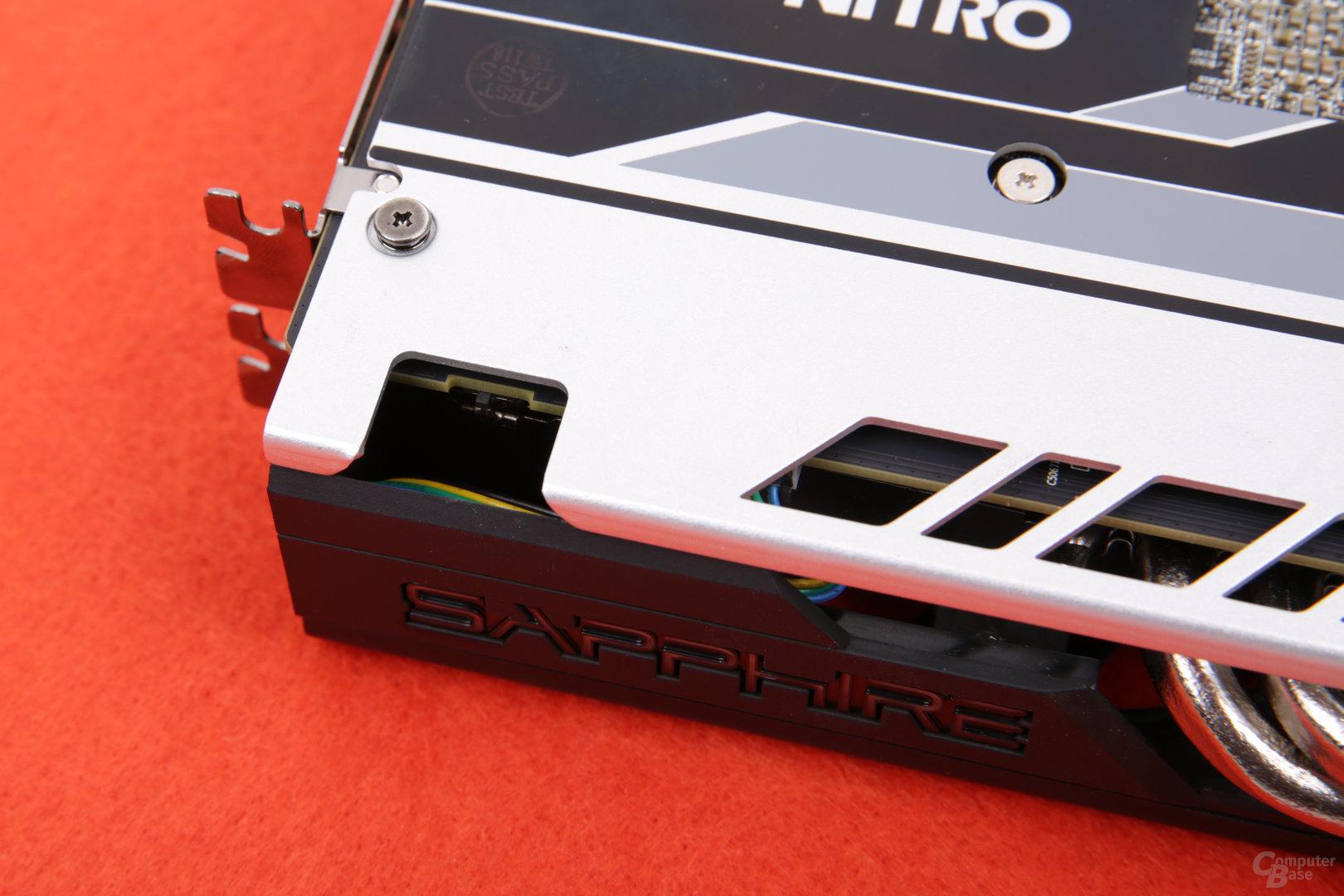 Sapphire Radeon RX 580 Nitro+ OC - BIOS-Schalter