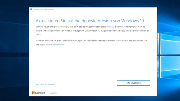 Windows 10 Creators Update: Microsoft warnt vor Risiken bei manuellen Updates