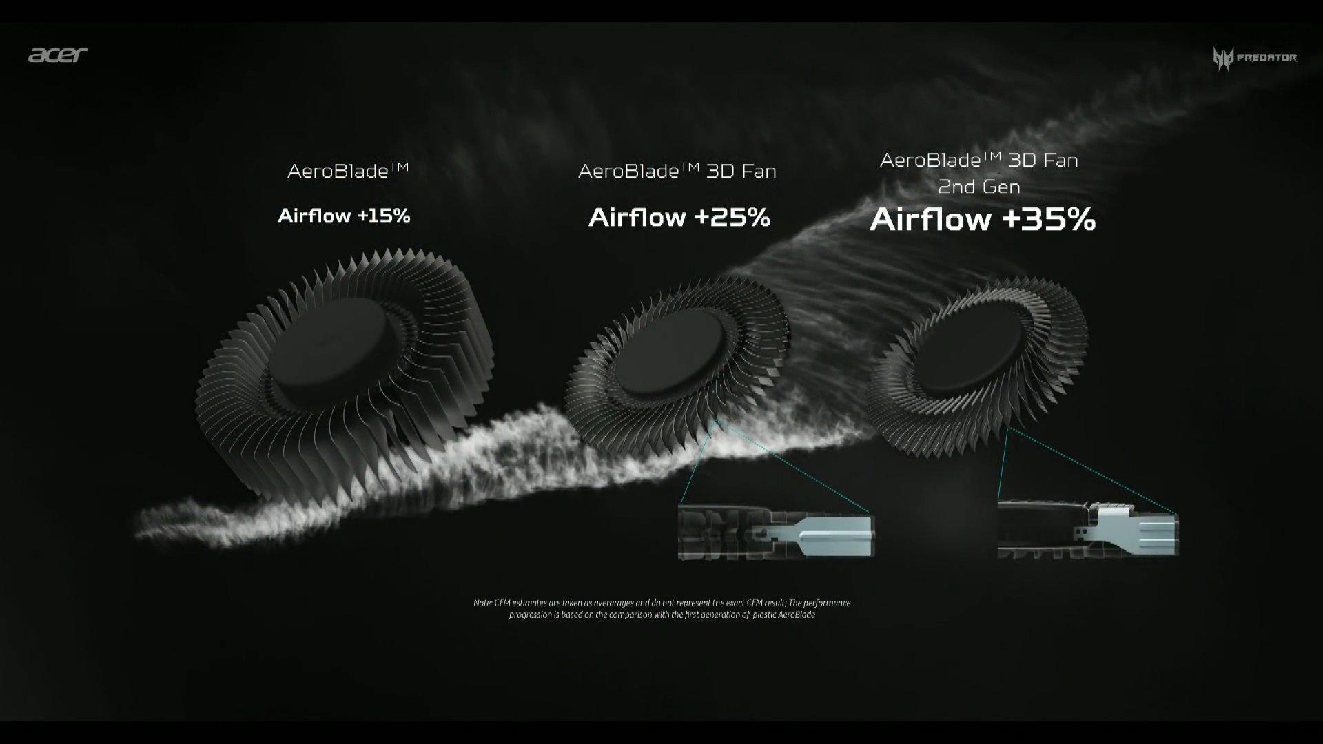 AeroBlade-Generationen im Vergleich