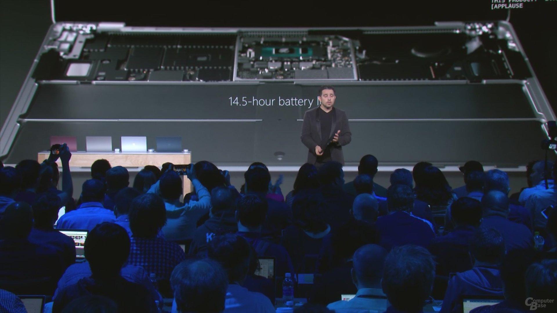 Surface Laptop hält 14,5 Stunden