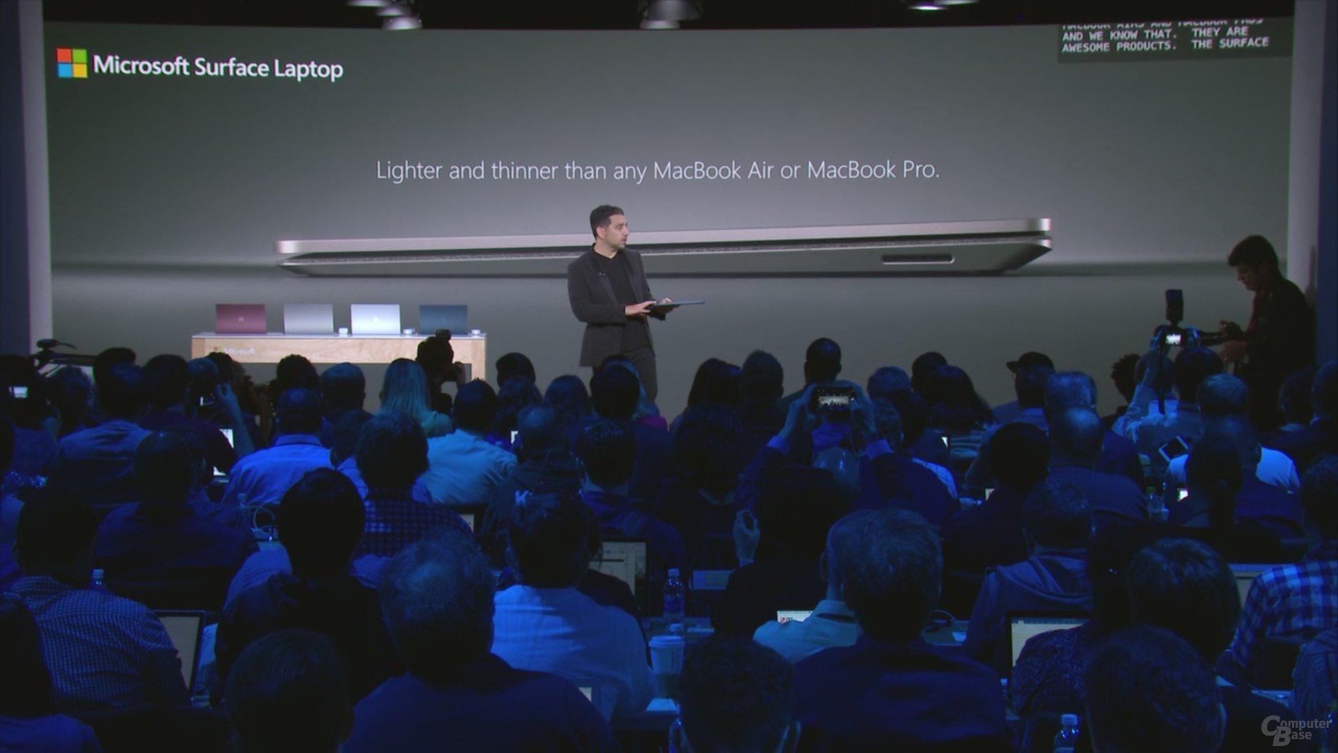 Dünner und leichter als jedes MacBook Pro oder MacBook Air