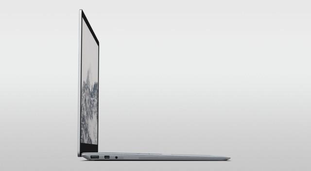 Microsoft Surface Laptop mit USB Typ A, Mini-DisplayPort und 3,5-mm-Klinke