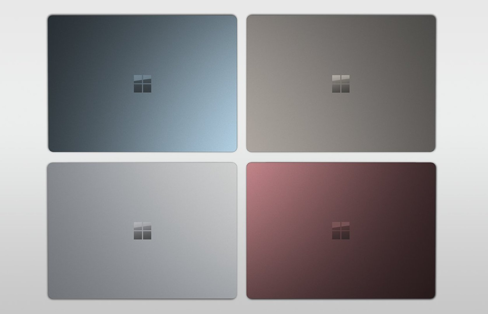 Microsoft Surface Laptop in vier Farben
