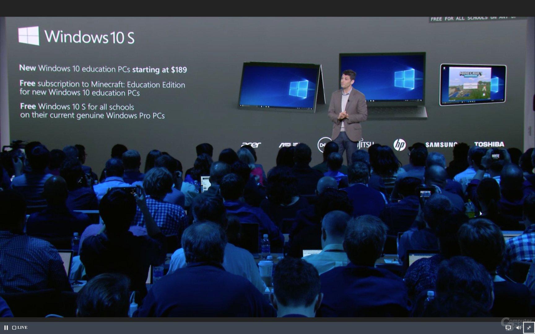 Erste Rechner mit Windows 10 S ab 189 USD ab diesem Sommer