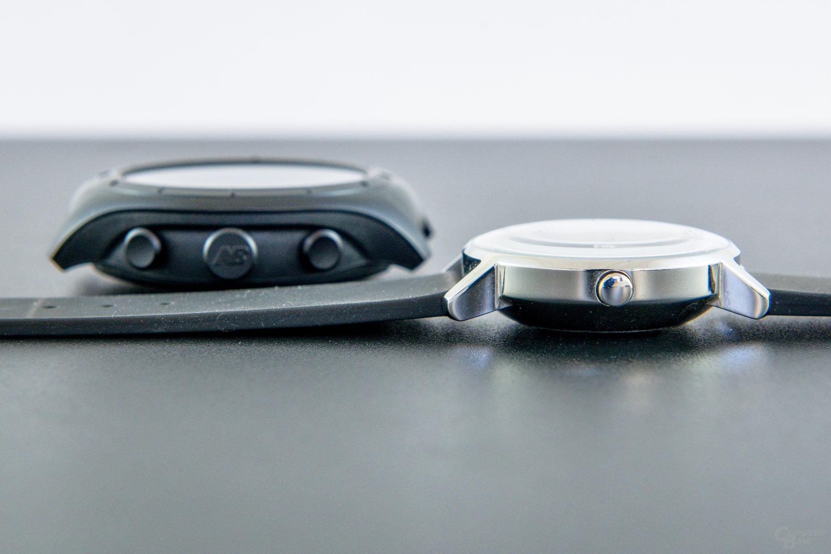 New Balance RunIQ – Im Größenvergleich m. Withings Steel HR (36mm)